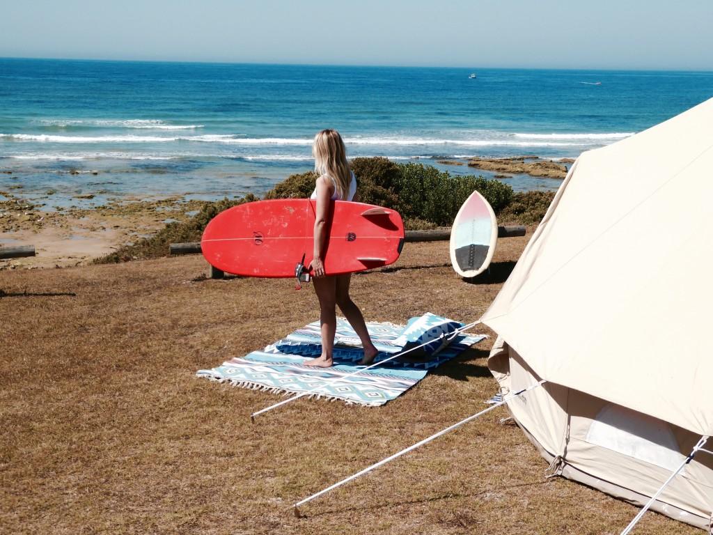 Glamping-Surfing