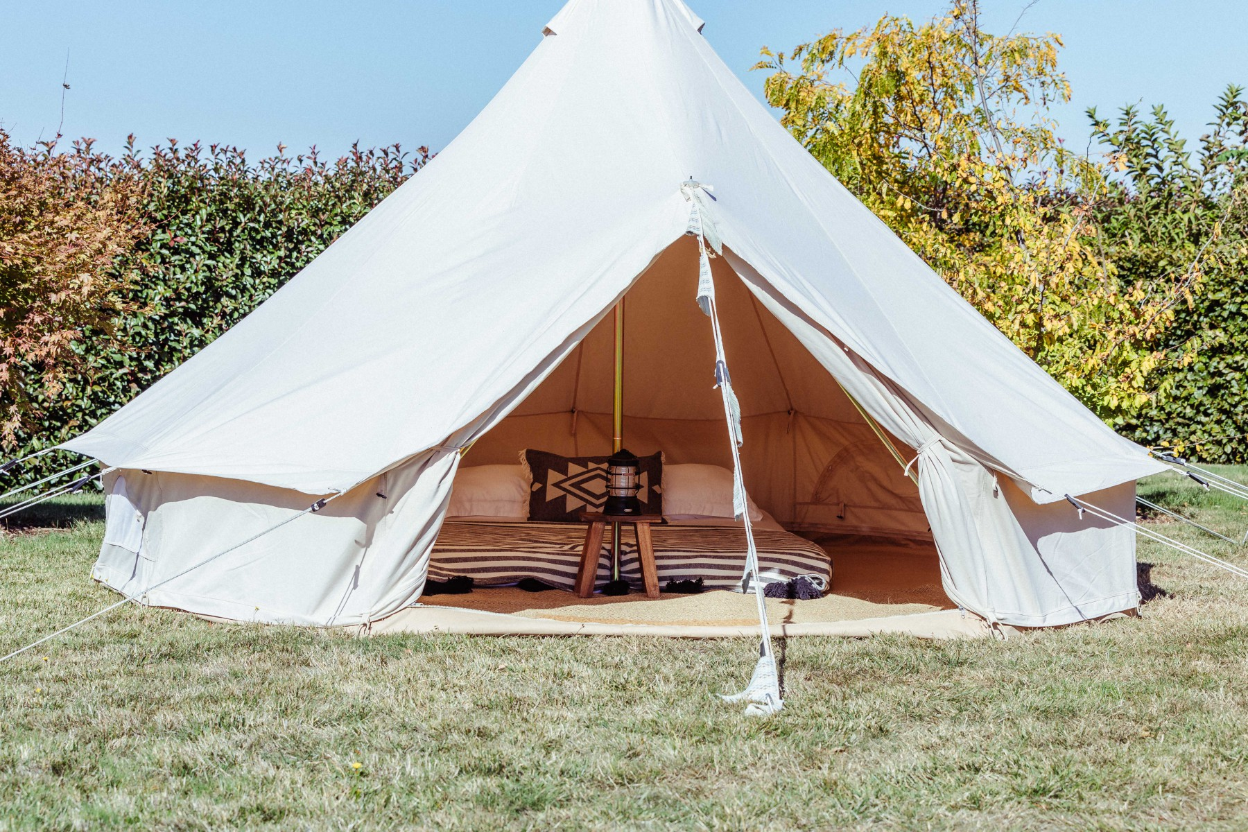 Image of a 4m bell tent glamping