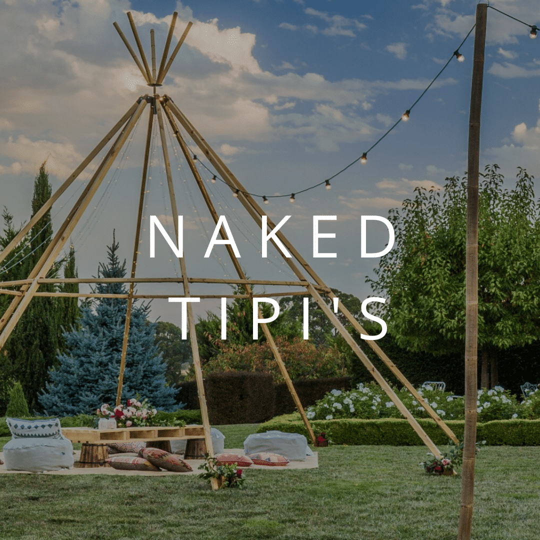Button to view information on our naked tipi hire