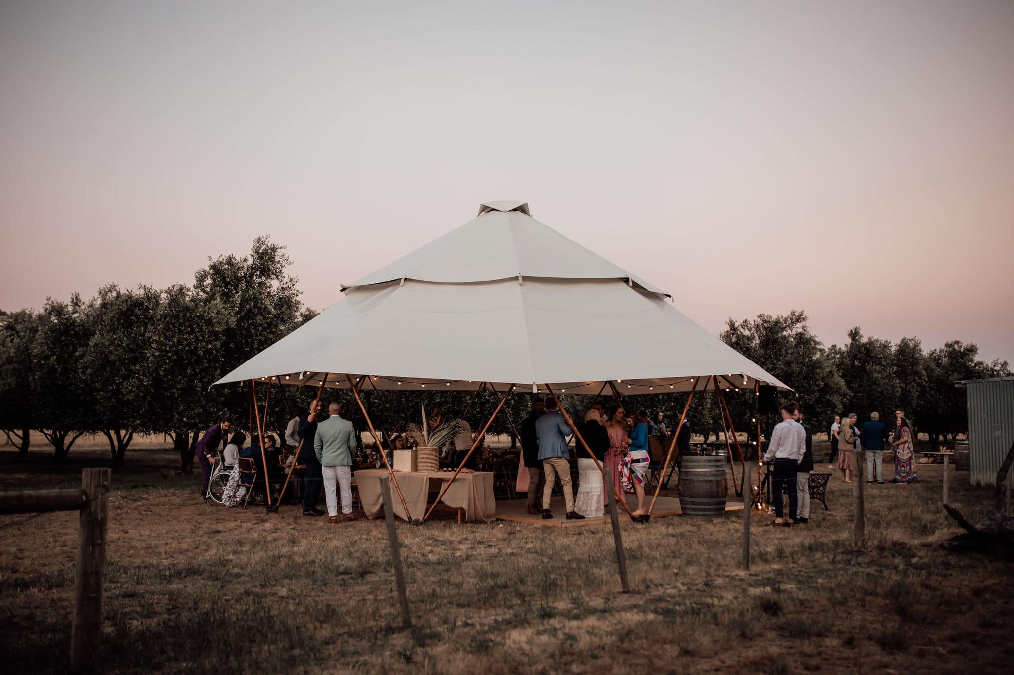 large yurt marquee at a wedding