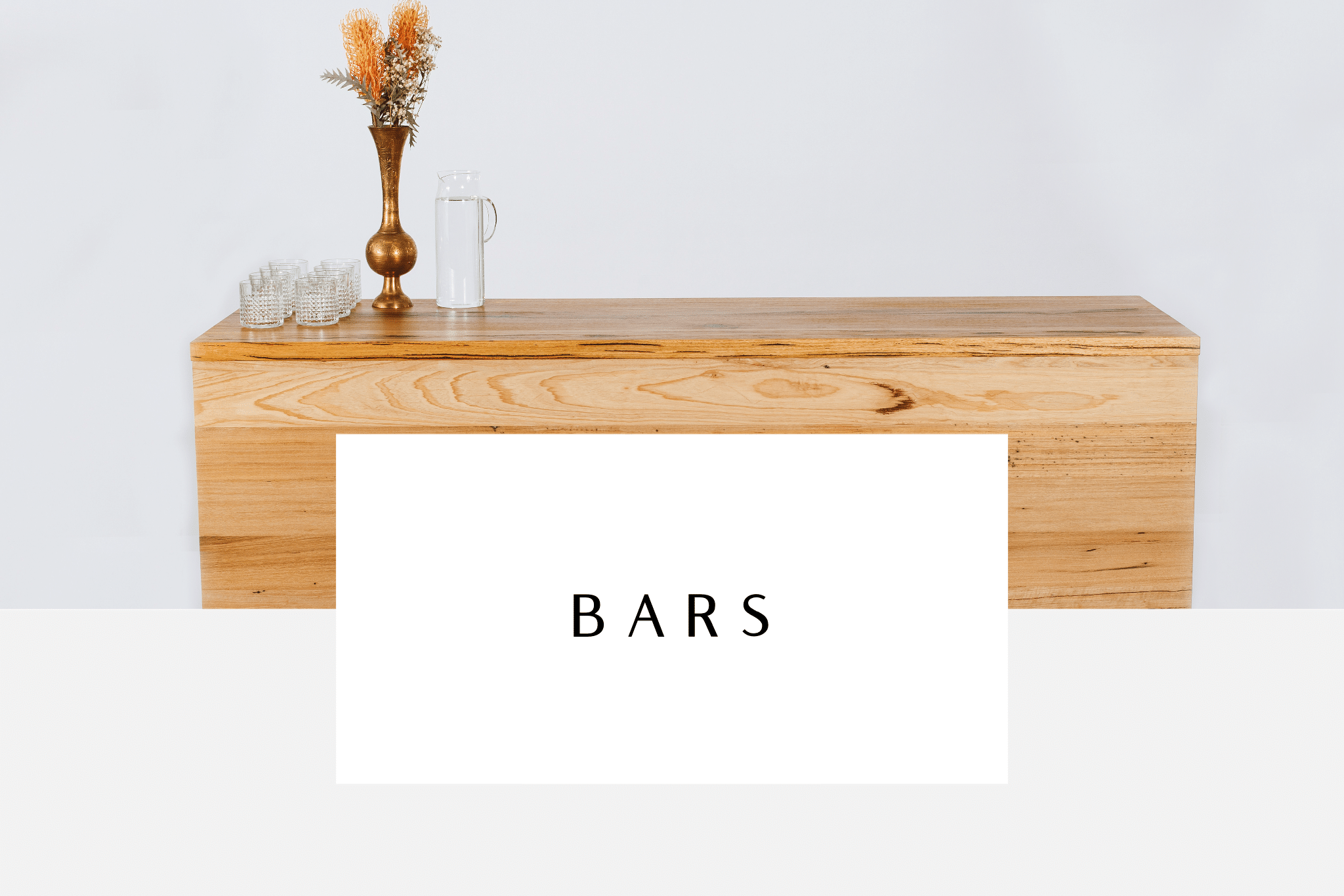 button to view bars available to hire